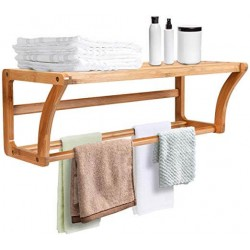 Bamboo Wall Hanging Towel Rack