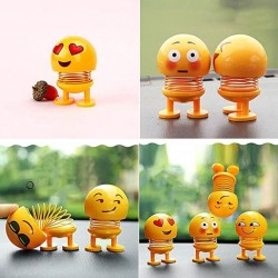 Funny Smiley Emoji Face Springs Dancing Toys