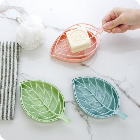 Leaf Shape Soap Holder with Draining Tray