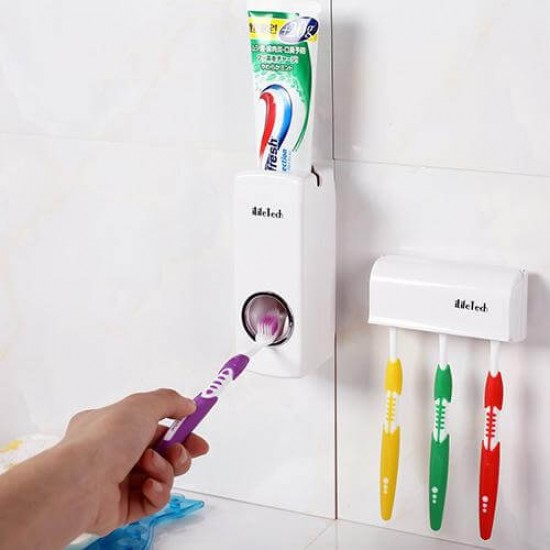Toothpaste Dispenser with Holder