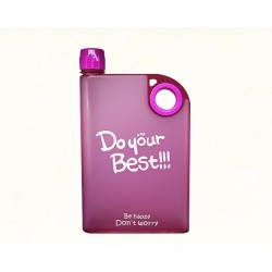 Printed Notebook Style Water Bottle