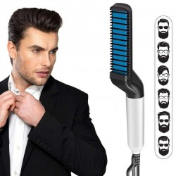 Hair Beard Straightener Modelling Comb Ceramic Iron
