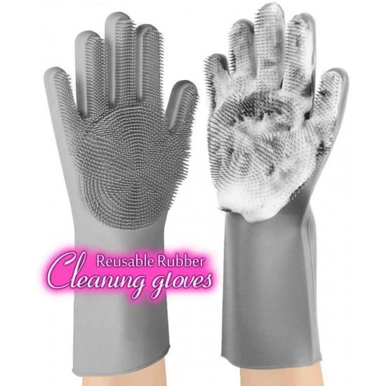 Magic Multifunction Silicone Dishwashing Gloves Pair