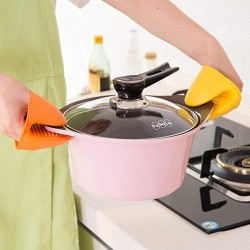 Silicone Hot Pot Holder Cooking Finger Protector