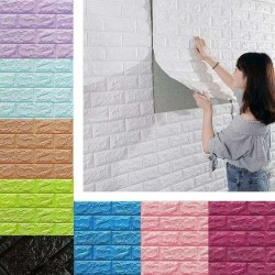 3D Foam Brick Wallpaper Stickers Pack of 4