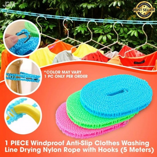 5 Meters Windproof Anti-Slip Clothesline Nylon Rope