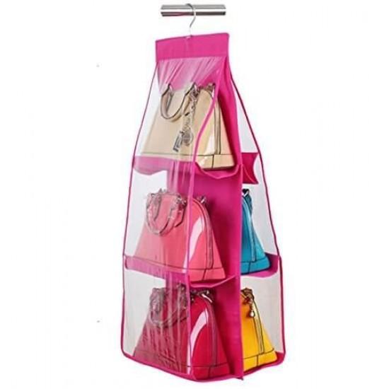 6 Pocket Handbags Purse Organizer Bag Purse Closet