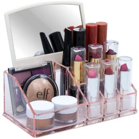Acrylic Makeup Organizer Square Shape