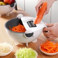 All In One Vegetable Slicer With Drain Basket