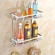Aluminum 2 Layer Bathroom Shelf