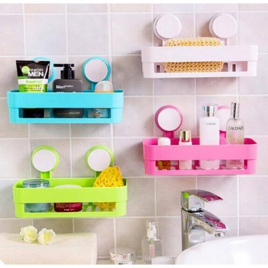 Bath and Kitchen Storage Shelf with Suction Cup