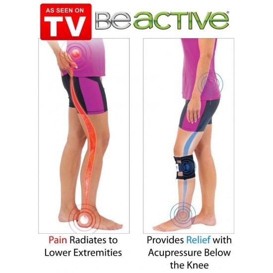 Be Active Brace Leggings Pressure Point Acupressure Pad Back Pain Set Of 2