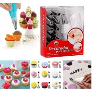 Cake Decorating Set Frosting Icing Piping Bag Tips 15 Piece