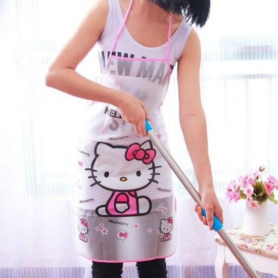 Cartoon Design Waterproof Apron Random Design