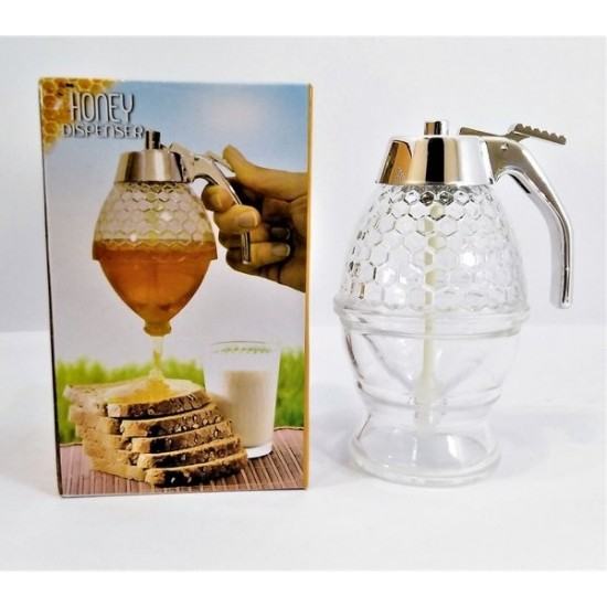 Crystal Honey Dispenser with Stand