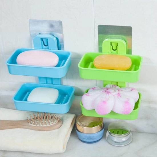 Double Layer Soap Dish Wall Mounted