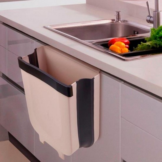Foldable Kitchen Cabinet Door Hanging Trash Bin