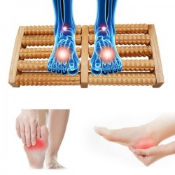 Traditional Wooden Roller Foot Massager