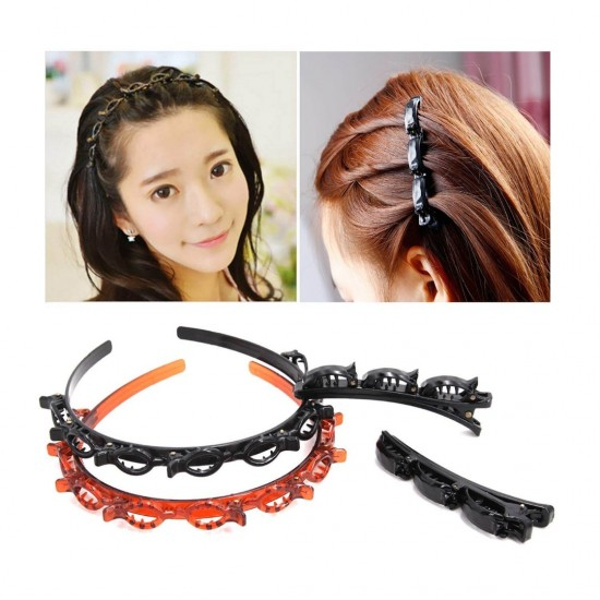 Hair Twister Hair band With 8 Small Clips
