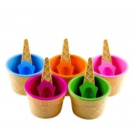 Ice Cream Cup With Spoon
