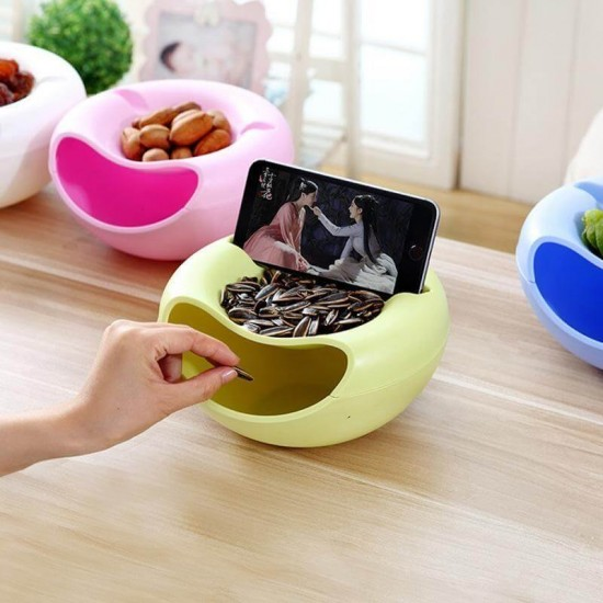 Lazy Snack Bowl With Mobile Holder