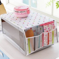 Microwave Dust Safe Cover With Pockets