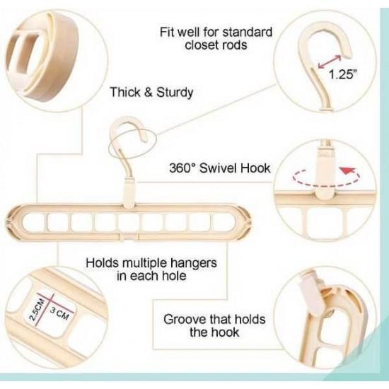 Nine Hole Magic Folding Super Hanger