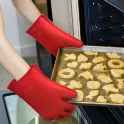 Oven Gloves Pair Heat Resistant Silicone