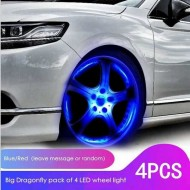 Waterproof Led Wheel Tyre LED Light with Motion Sensor Pack Of 4