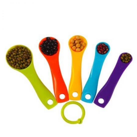 Plastic Measuring Spoons 5 Pcs Set