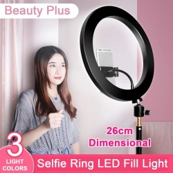 Selfie Ring Light 26cm for Live Stream Ring Light Round