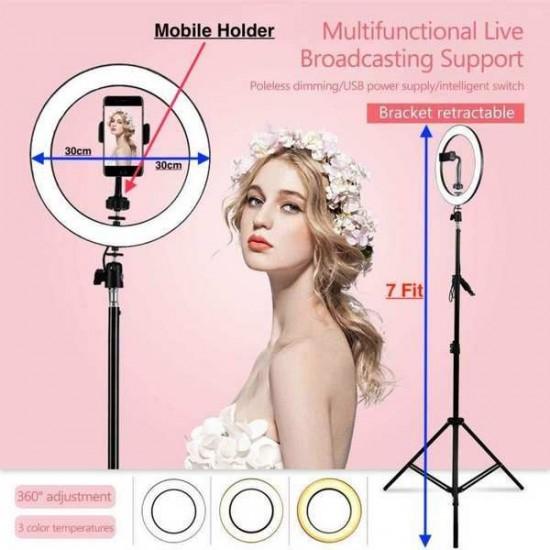 Selfie Ring Light 26cm for Live Stream Ring Light Round
