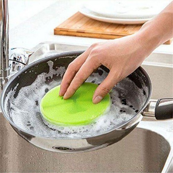 Silicon Dish Washing Scrubber Pad