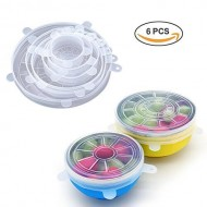 Silicone Stretch Lids 6 Pack Of Various Sizes