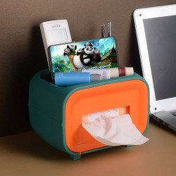 Tissue Box with Cosmetics Storage Case And Mobile Holder