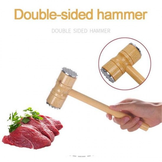 Wooden Double Sided Meat Tender